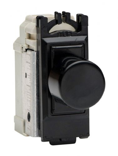 Varilight GPINTB Powergrid Module Black Intermediate Push-On/Off Switch (Dummy Dimmer) 6A